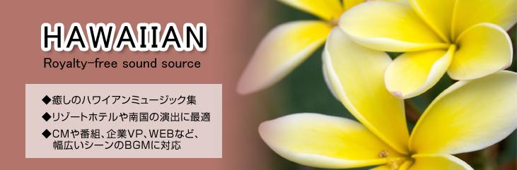 ハワイアン 著作権フリー音楽CD